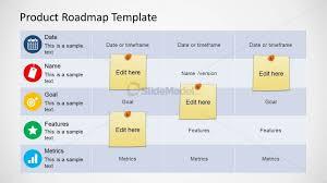 Roadmap Table Design For Powerpoint Slidemodel
