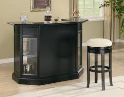 in home bar furniture. fine home front view of a black home minibar inside in home bar furniture