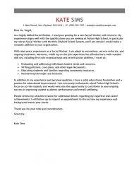 Cover Letter For Social Work Best Social Worker Cover Letter Inside