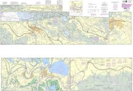 Noaa Intracoastal Waterway Charts Details About Noaa Nautical Chart 11355 Intracoastal Waterway Catahoula Bay To Wax Lake Outle