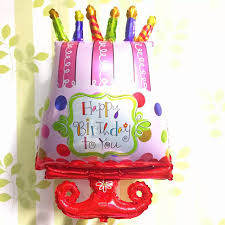 95 54cm Candle Birthday Cake Balloons Big Size Foil Globos Baby