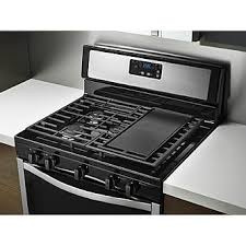 gas cooktop with griddle. Gas Range W/ Griddle - Stainless Steel Gas Cooktop With Griddle
