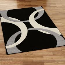 68 most fantastic black white area rug black and white striped area rug red black and