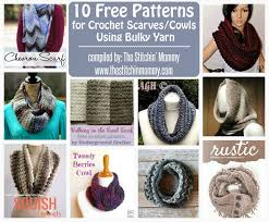 Crochet Scarf Patterns Bulky Yarn Extraordinary 48 Free Patterns For Crochet ScarvesCowls Using Bulky Yarn The