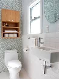 Bathroom:Small Bathroom Shelving Ideas Dark Brown Glossy Curved Open  Shelving Chrome Faucet Pull Out