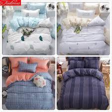 3 bedding set soft skin cotton bed linen kids single twin double queen king size duvet cover quilt comforter case 2m comforter sets king size