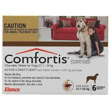 comfortis chewable 27 54kg brown box of 6 comfortis for dogs57