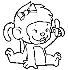 Monkey Color Page Sock Monkey Coloring Pages Monkey Coloring Pages