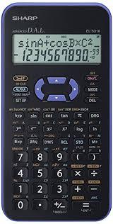 sharp calculator. sharp el531xhbvl scientific calculator - violet l