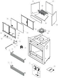 fireplace repair parts wood burning fireplace replacement parts stove and accessories napoleon exploded view drawing heat