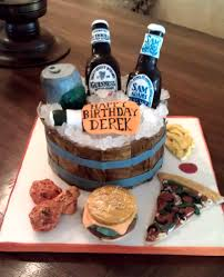 Beer Themed Birthday Cake I Was Asked To Make A Surprise B Flickr