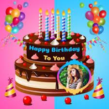 my name photo birthday cake 4