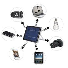 6v 5w solar panel system 3 led light usb charger for indoor outdoor lighting multi function