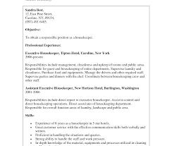 Housekeeping Resume Resume Sle Housekeeping By Receiving Clerk Sales Recruitment Unit 85