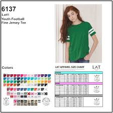 Personalize Lat Apparel 6137 Youth Fine Jersey Football T
