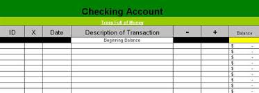My Simple Excel Based Check Book Registry Spreadsheet – Trees Full ...