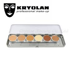 kryolan ultra foundation palette 6 colors high coverage corrective makeup foundation transpa application of ultra foundation