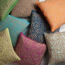 jewel tone pillows. Exellent Pillows Geometricjeweltonepillowswithhessiantaupedecoroverstock Intended Jewel Tone Pillows P