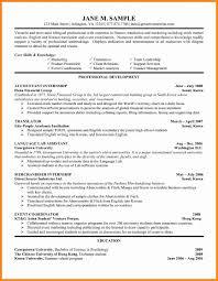 Template 7 Resume For Summer Internship Job Apply Form Intern
