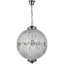 equator 12 light ceiling pendant in polished chrome with crystal glass detail