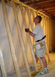 framing a basement wall. Moving Wall Frame Into Place Framing A Basement I