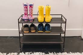 four pairs of shoes sitting on our pick for best shoe rack