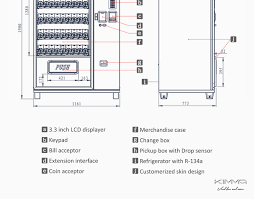 Vending Machine Schematics Enchanting Hot SaleSnacks And Beverages Vending MachineKvmg48m48 Buy