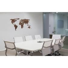 office deco. office deco transfer wooden worldmap wall decal n