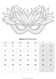 Calendario Marzo 2019 Da Stampare Svizzera