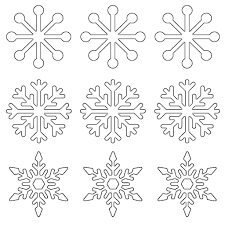 Snowflake Patterns To Trace