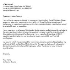 Registered Dental Assistant Cover Letter Resume Writing And Editing  Services Dental Assistant Cover Letter Samples ...