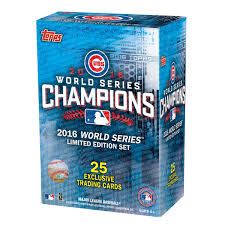 2016 topps chicago cubs world series memorative card set
