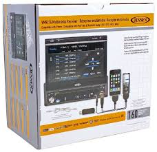 amazon com jensen vm9214 in dash all in one dvd cd mp3 amazon com jensen vm9214 in dash all in one dvd cd mp3 receiver 7 inch flip out motorized touch screen monitor usb slot built in ipod and
