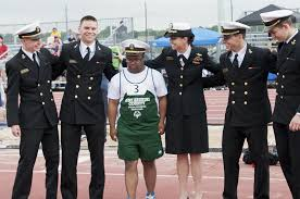 Mids support Special Olympics athletes at state qualifier - Baltimore Sun
