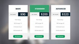Price Chart Template Price Chart Template Set Price Tables Pricing Tabledesign 9