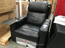 get the full theater experience with the pulaski furniture leather home theater power recliner