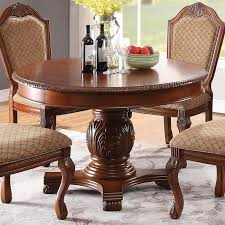Acme Furniture Chateau De Ville Traditional Round Dining Table With