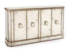 john richard eur 04 0169 living room juno foxed mirror 4 door credenza