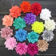 Großhandel 40 Teile Los 3 Weihnachtsstern Winter Blume Handgemachte Stoff Blumen Für Mädchen Haarschmuck Boutique Haarband Blume Von