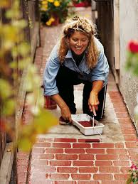 Faux Paint brick Own Your Creative Idea The Diy Sidewalk Side xBqn1FwC