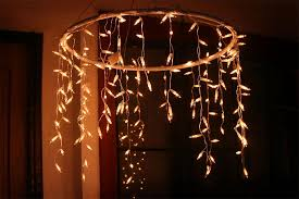 icicle lights for chandelier