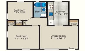 sq ft house plans bedroom home office throughout small cottage open ranch style