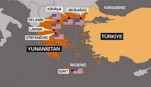 ABD'nin Yunanistan'da kurduğu üs sayısı Türkiye için ciddi tehdit - DÜNYA  Haberleri