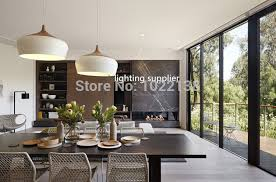 18 contemporary pendant lighting for dining room modern pendant light wood and aluminum lamp black white