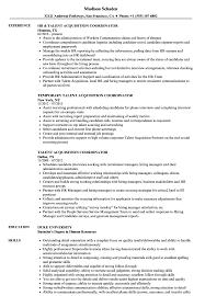 Hr Coordinator Cv Sample Talent Acquisition Coordinator Resume Samples Velvet Jobs