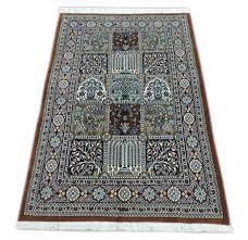 ペルシャ絨毯 カーペット コルク100 手織り ペルシャ絨毯の本場 イラン クム産
