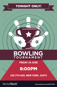 Bowling Event Flyer Bowling Tournament Poster Template
