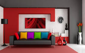 colorful modern furniture. Colorful Living Room Design Black And Red With Other Colors Leather Sofa In Modern Furniture H