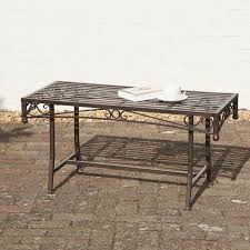 wrought iron coffee table garden coffee table metal garden table antique bronze finish ornate