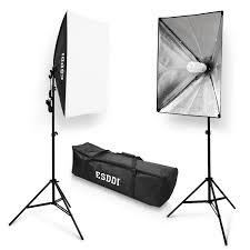 com esddi 20 x28 soft box photography lighting kit 800w continuous lighting system photo studio equipment photo model portraits shooting box 2pcs